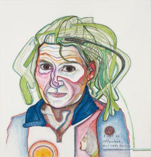 Zelfportret met rode oortjes (2007)